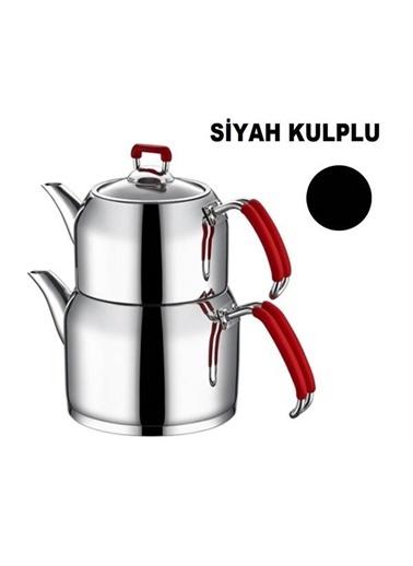 Nar-ı Dem Aile Çaydanlık - Siyah-Aksu